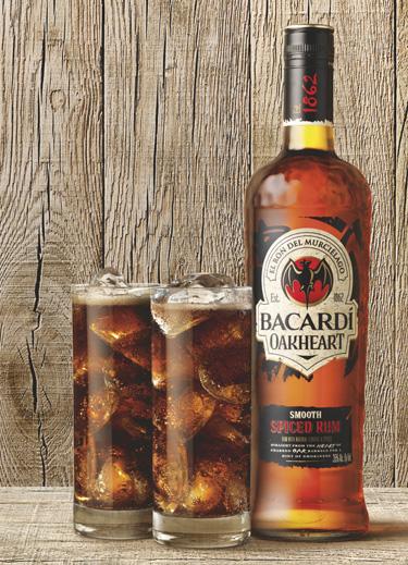 Bacardi oakheart bottle