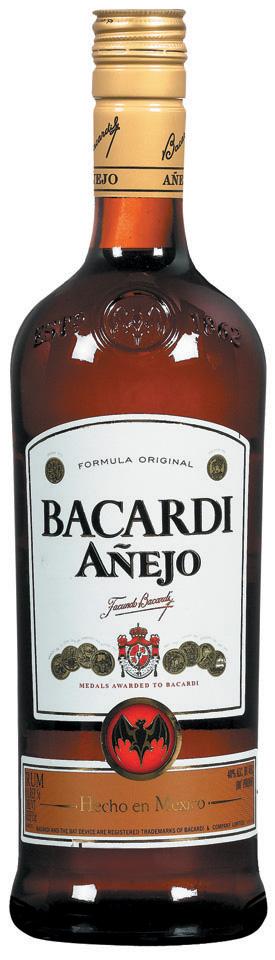 Bacardi reserva anejo especial brauner rum 40%vol1,0l